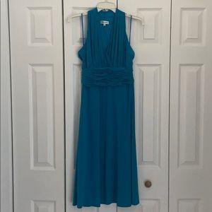Robin egg blue colored knee length dress